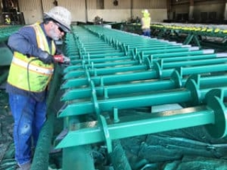 Helical Piles Coated