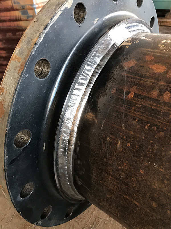 Weld on flange Used Steel Pipe